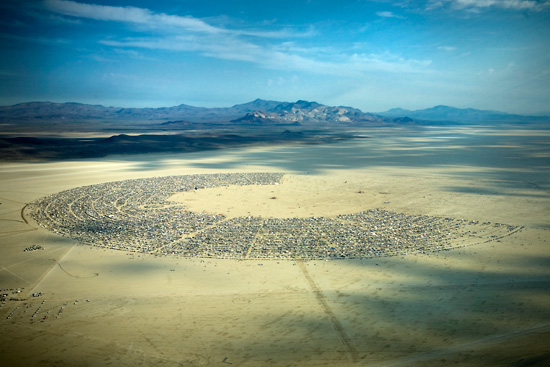 Black Rock City Aerial - Burning Man 2009