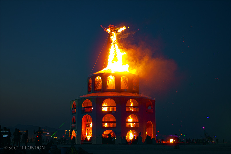 The Man Goes Up in Flames at Burning Man 2012