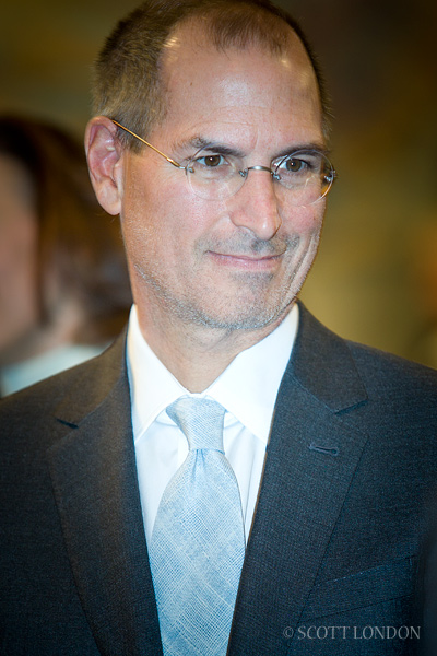 Steve Jobs in a suit and tie