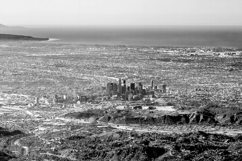 Aerial view of Los Angeles - photo by Scott London
