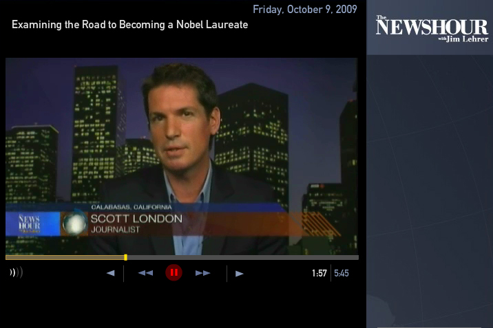 Scott London on the Newshour with Jim Lehrer