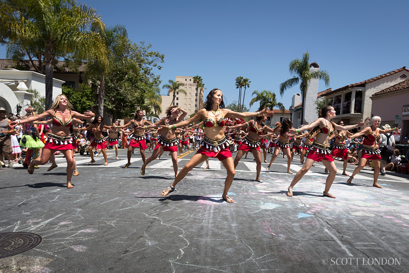 Panzumo dance troupe at the 2013 Summer Solstice Parade: A Photo by Scott London
