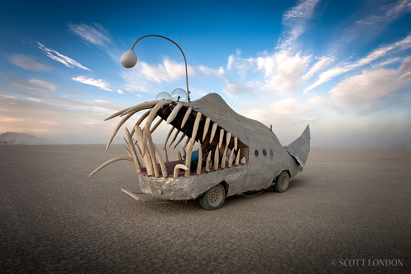 Art Car With Teeth