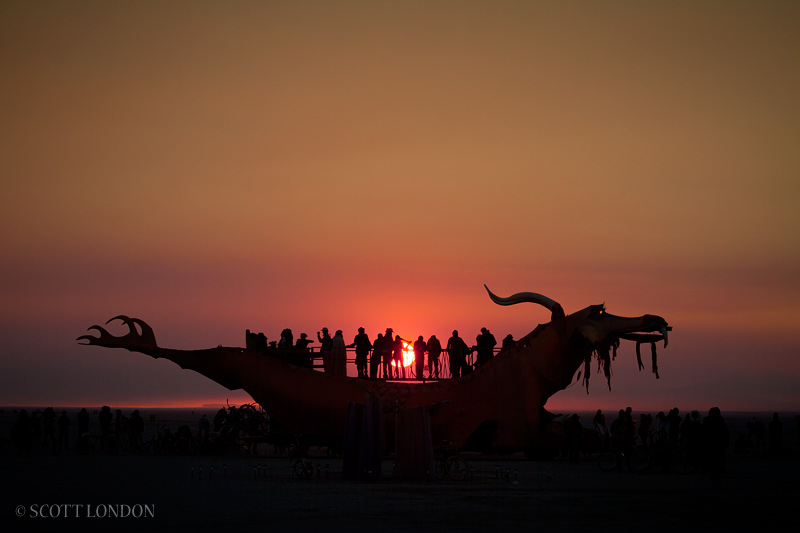 Dragon Mutant Vehicle at Burning Man. This is where I had my mushroom trip. Photo by Scott London.