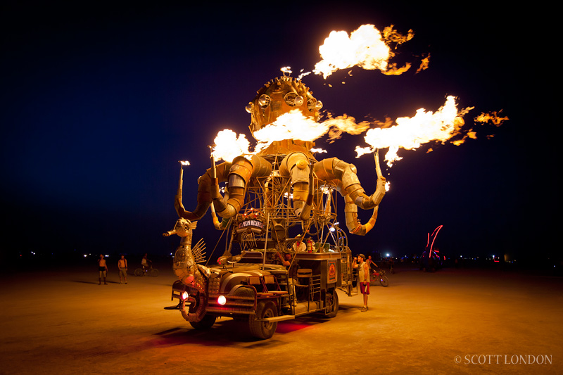 This was my favorite Mutant Vehicle, the Pulpo. Photo by Scott London.