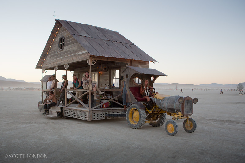 Prairie farm house at Burning Man. Photo by Scott London.