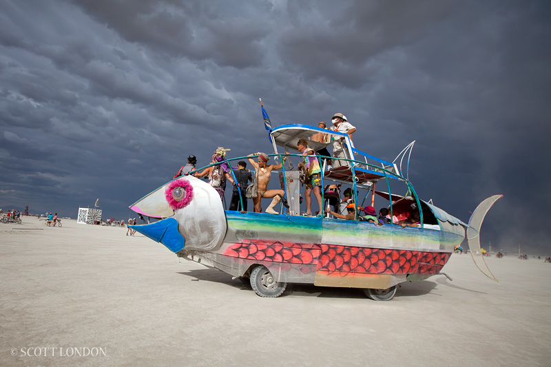 Fish Mutant Vehicle at Burning Man. Photo by Scott London.