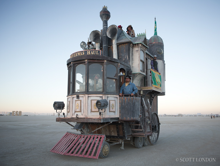 Locamotive at Burning Man. Photo by Scott London.