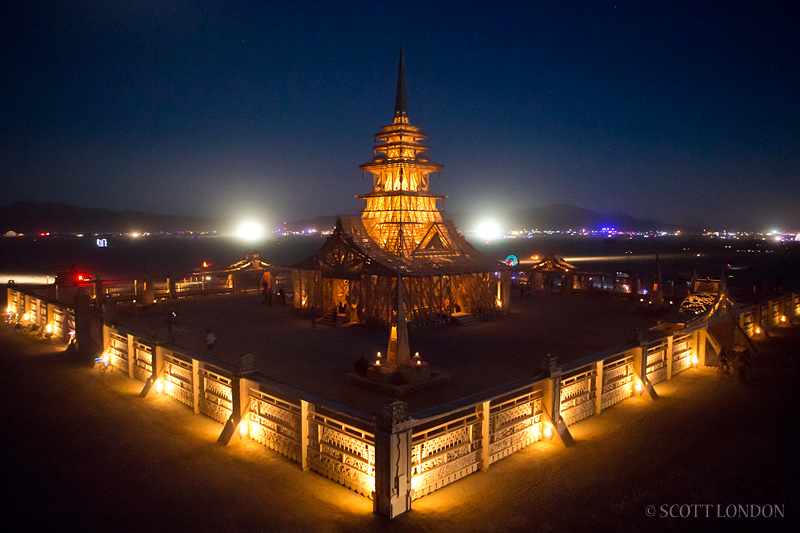 Temple Juno at night