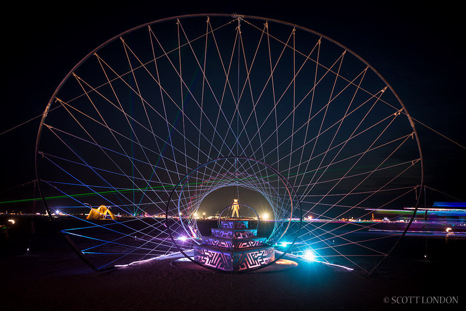 Zymphonic Wormhole, an installation by Seattle-based artists J-Kat and Shelly, at Burning Man 2014 (Photo by Scott London)