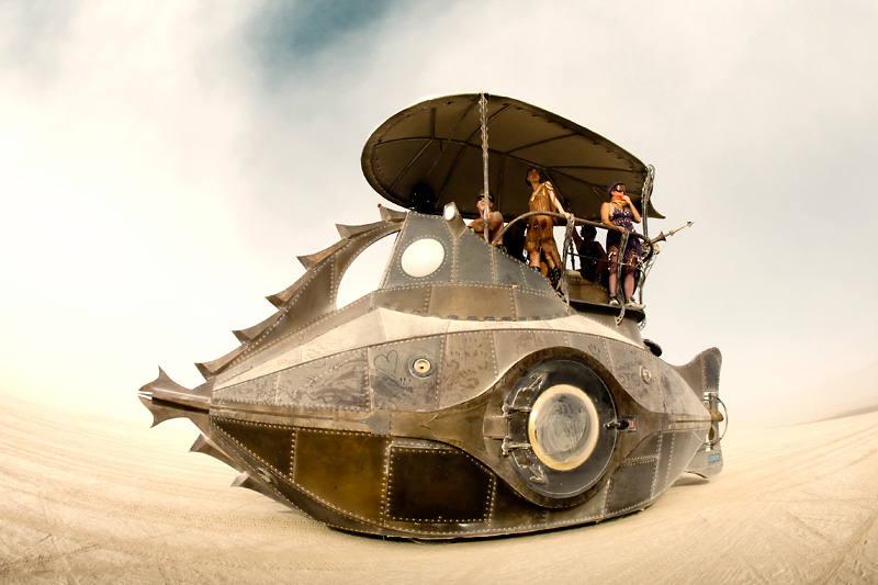 The Nautilus by Sean Orlando and Christopher Bently at Burning Man 2011 (Photo by Scott London)